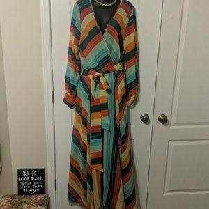 The Rainbow Maxi Dress